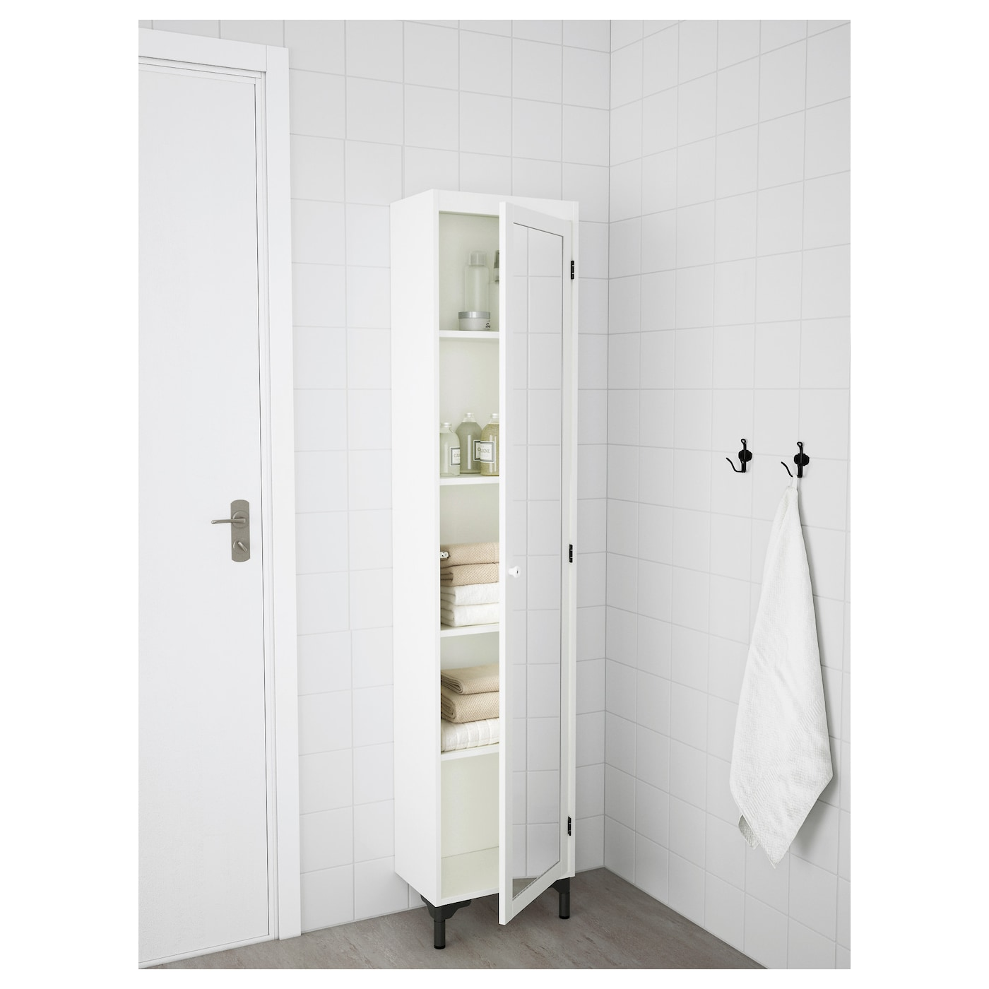Bathroom Mirror Door silverÅn high cabinet with mirror door white 40x25x172 cm - ikea