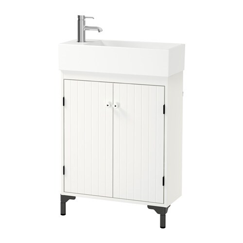 IKEA SILVERÅN/LILLÅNGEN wash-basin cabinet with 2 doors
