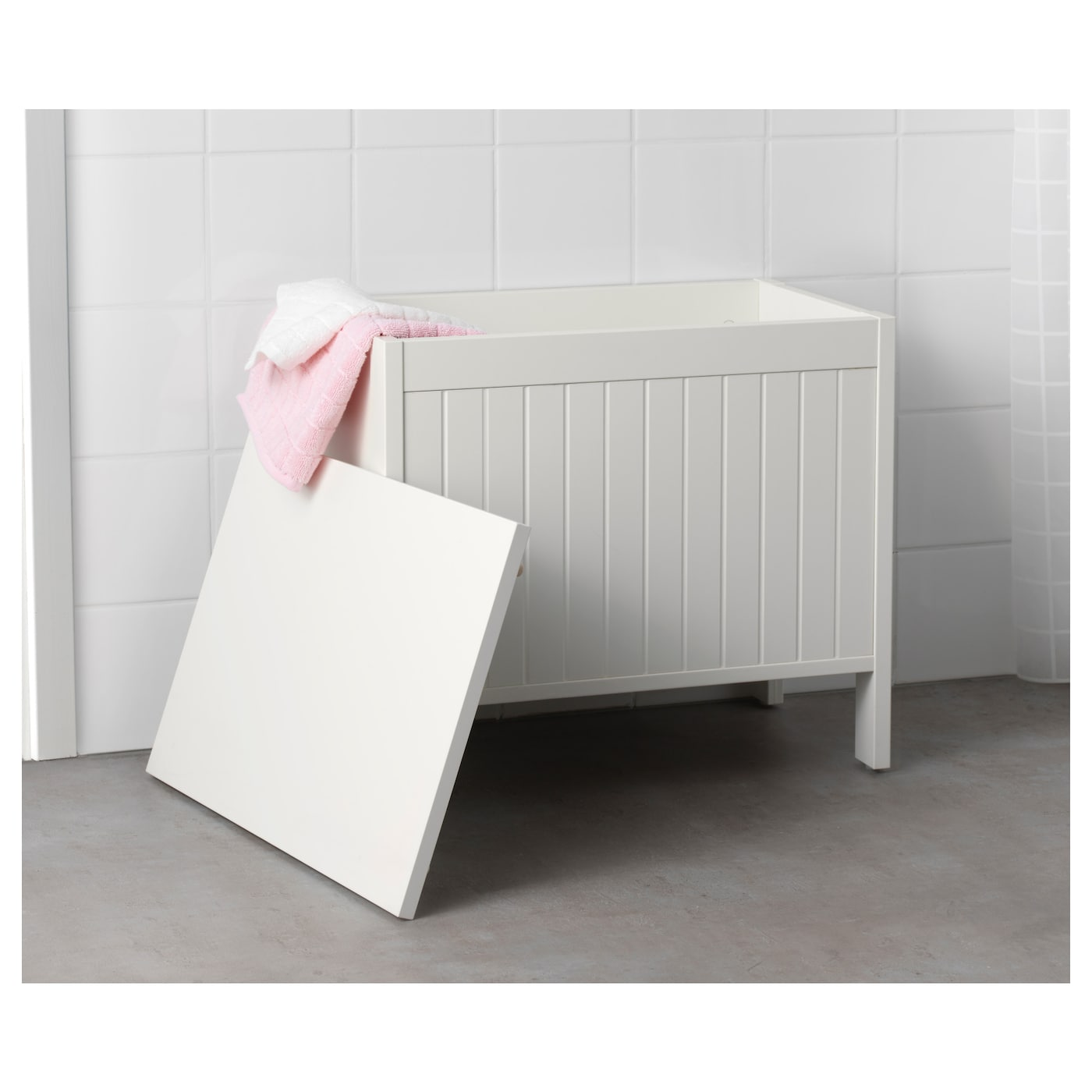 IKEA SILVERÅN storage bench A good solution if you are short of space.