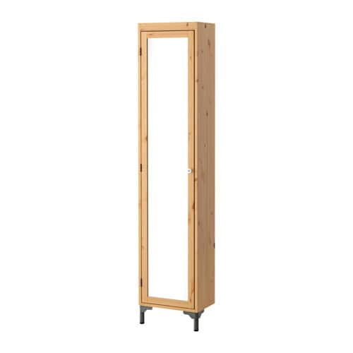SILVERÅN High cabinet with mirror door IKEA You can mount the door to open from the right or left.