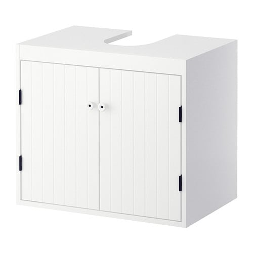 SILVERÅN Wash-basin base cabinet w 2 doors IKEA A good solution if you are short of space.