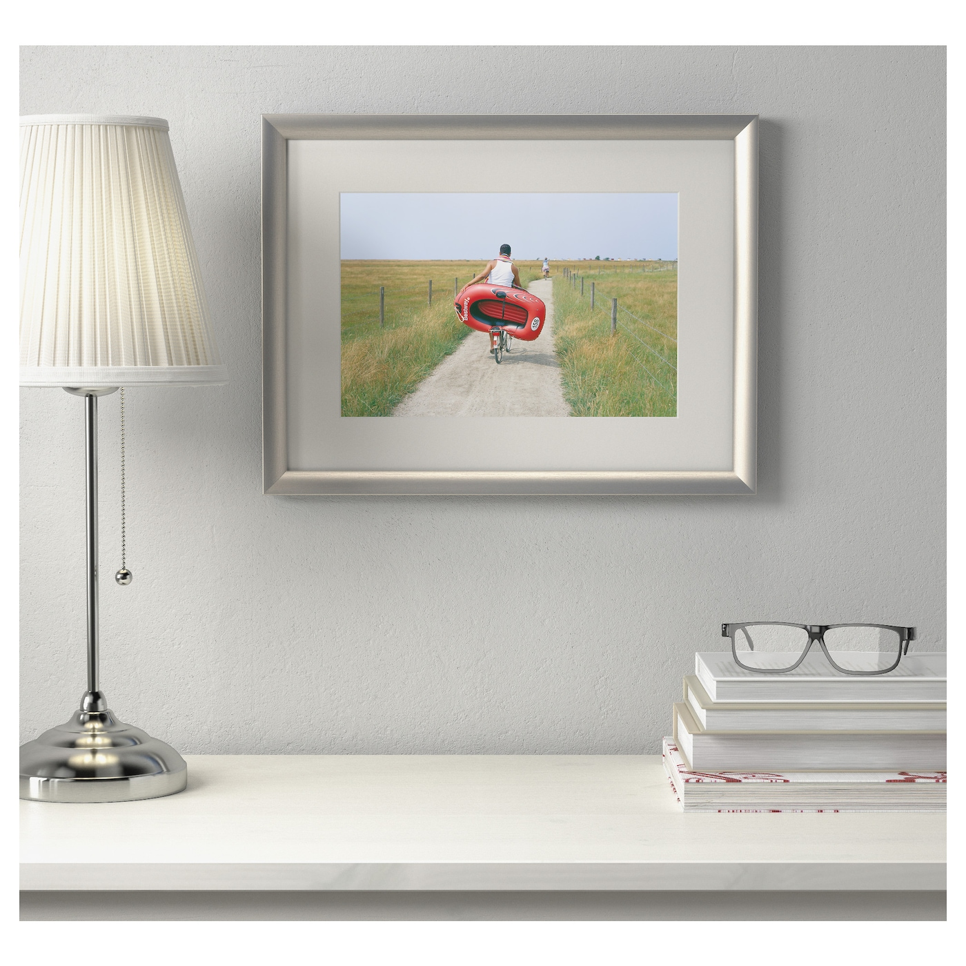 IKEA SILVERHÖJDEN frame Can be hung horizontally or vertically to fit in the space available.