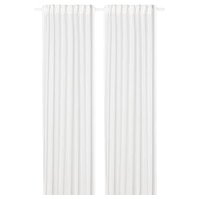 SILVERLÖNN Sheer curtains, 1 pair, white, 145x250 cm