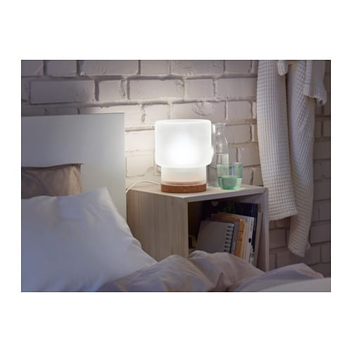 sinnerlig table lamp frosted glass cork 22 cm ikea. Black Bedroom Furniture Sets. Home Design Ideas
