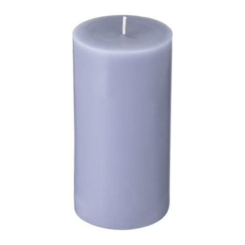 IKEA SINNLIG scented block candle Distinct scent of sweet blackberries with hints of mint.