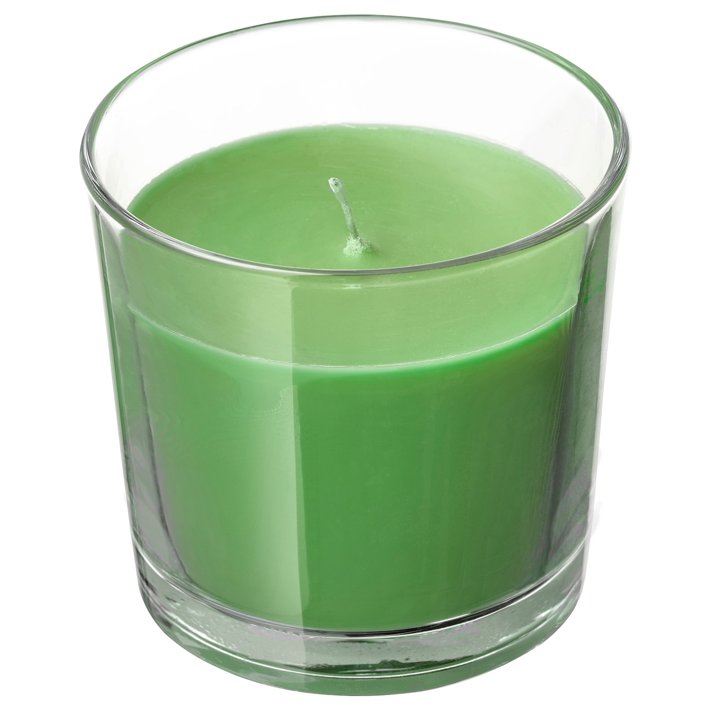 IKEA SINNLIG scented candle in glass Fruity scent of crisp apples and sweet pears.