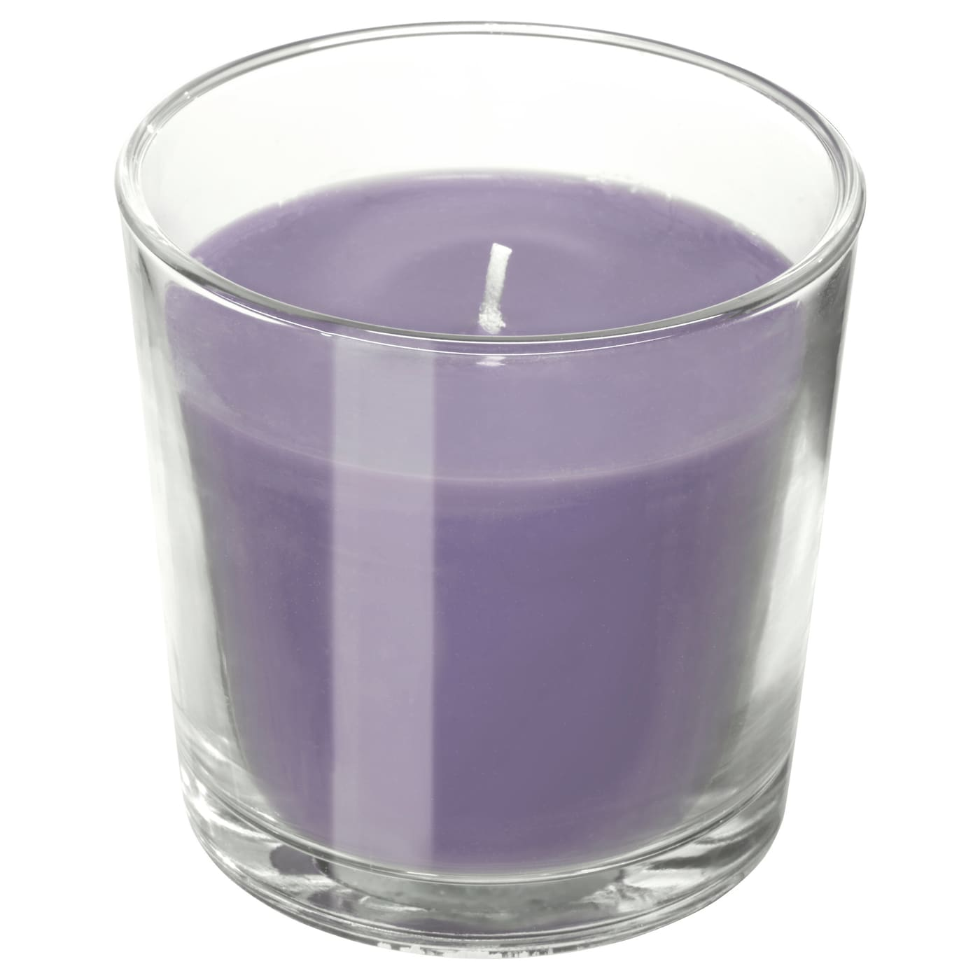 IKEA SINNLIG scented candle in glass Distinct scent of sweet blackberries with hints of mint.