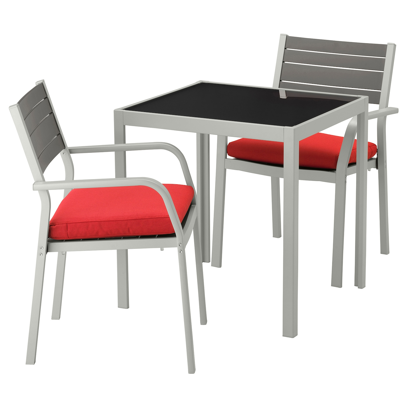 IKEA SJÄLLAND table+2 chairs w armrests, outdoor Easy to keep clean – just wipe with a damp cloth.