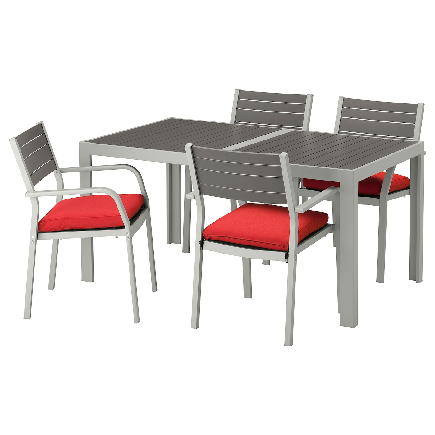 IKEA SJÄLLAND table+4 chairs w armrests, outdoor Easy to keep clean – just wipe with a damp cloth.