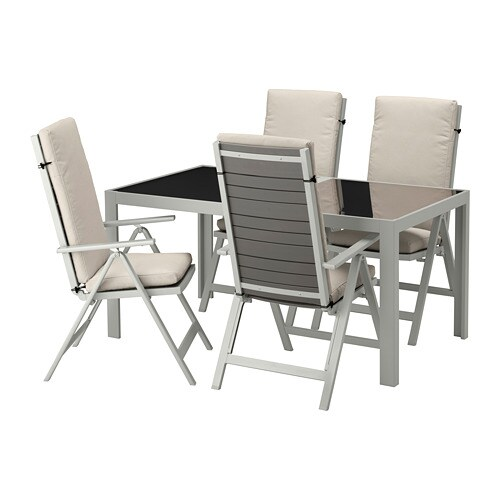 Ikea SjÄlland Table 4 Reclining Chairs Outdoor Easy To Fold Up And Put Away
