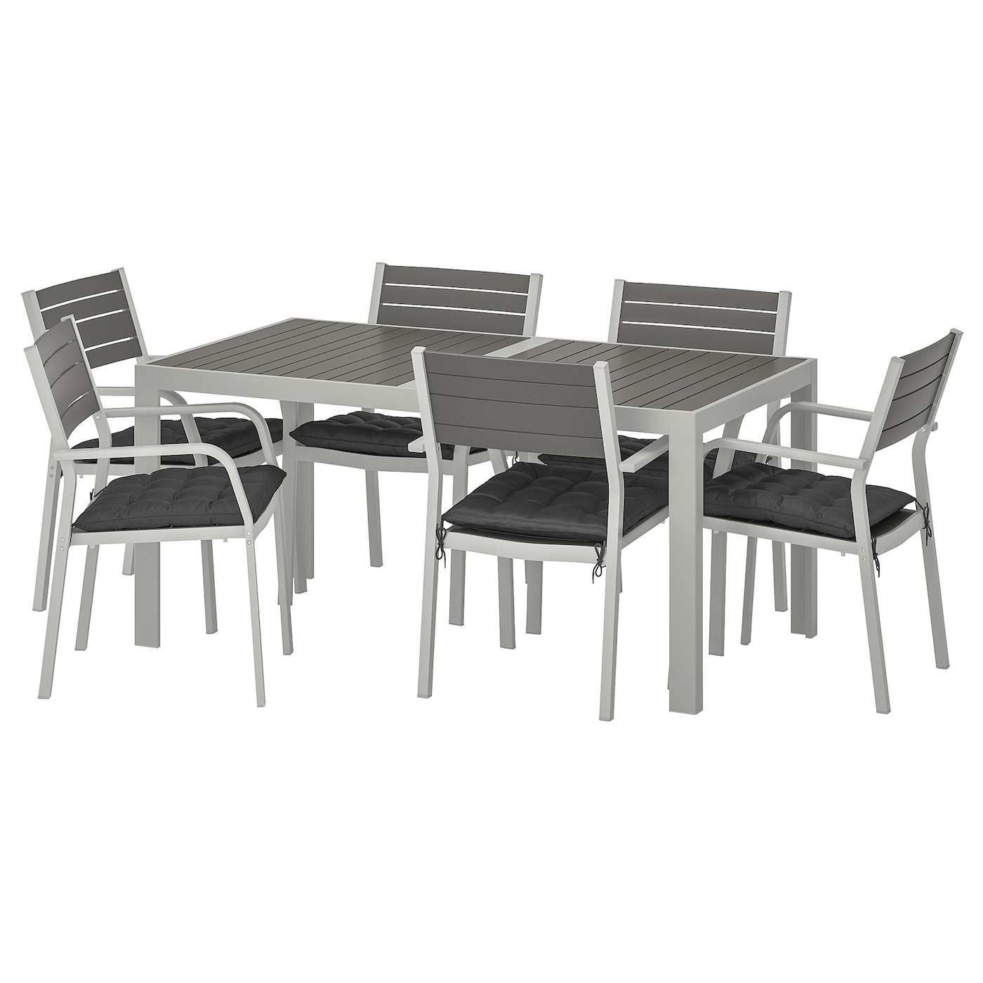 IKEA SJÄLLAND table+6 chairs w armrests, outdoor Easy to keep clean – just wipe with a damp cloth.