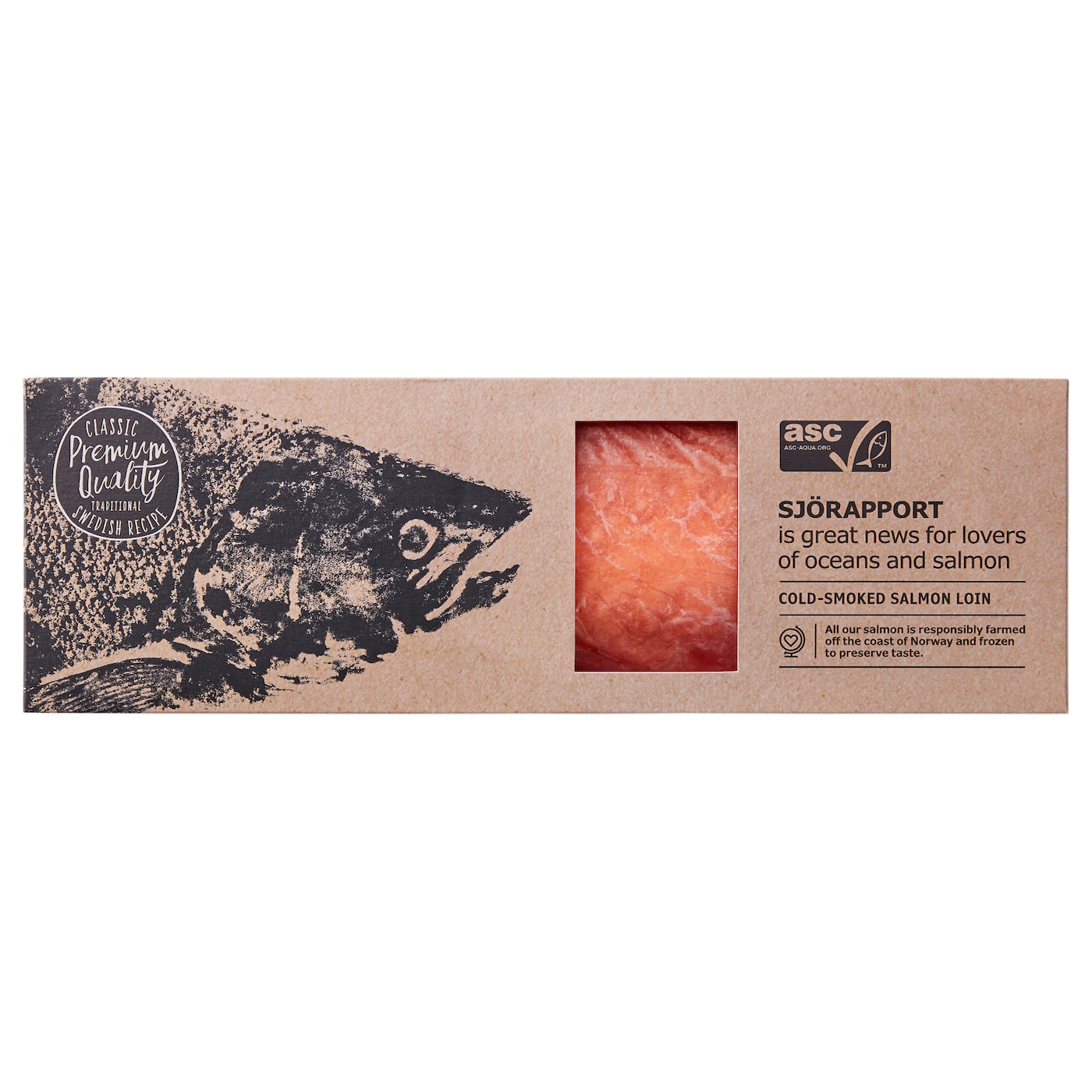 IKEA SJÖRAPPORT cold smoked salmon loin Salmon is a good source of protein and Omega-3 fatty acids.