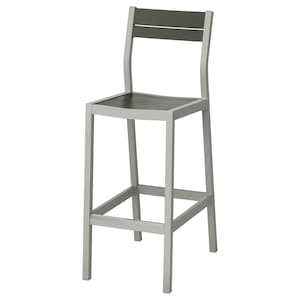 Admirable Bar Stool With Backrest Outdoor Sjalland Light Grey Dark Grey Gmtry Best Dining Table And Chair Ideas Images Gmtryco