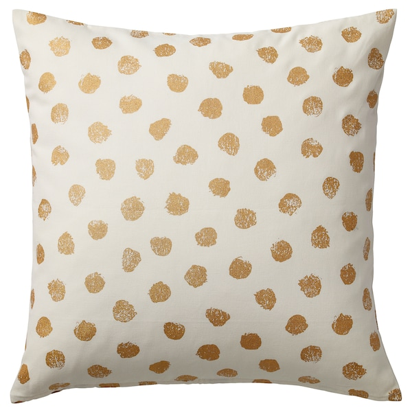 SKÄGGÖRT cushion cover white/gold-colour 50 cm 50 cm