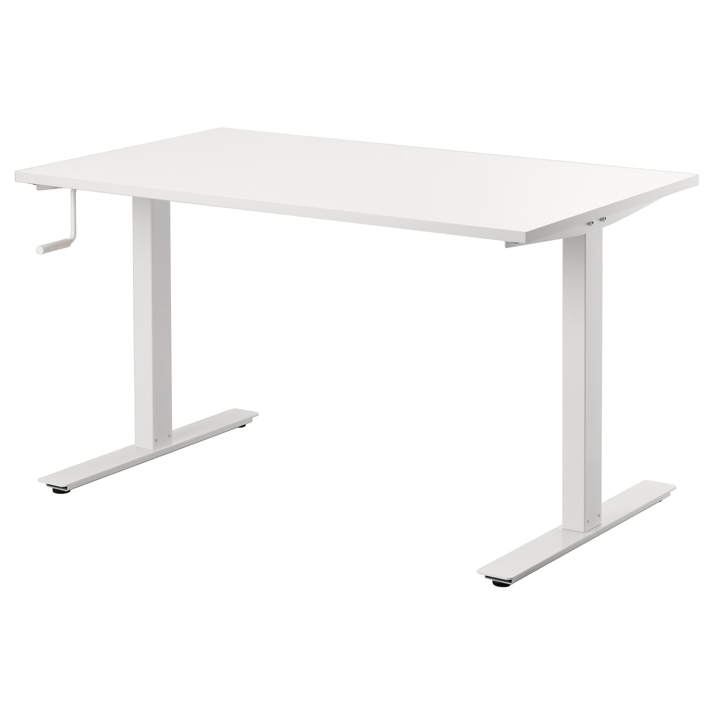Ikea Skarsta Desk Sit Stand Adjule Feet Make The Steady Also On Uneven