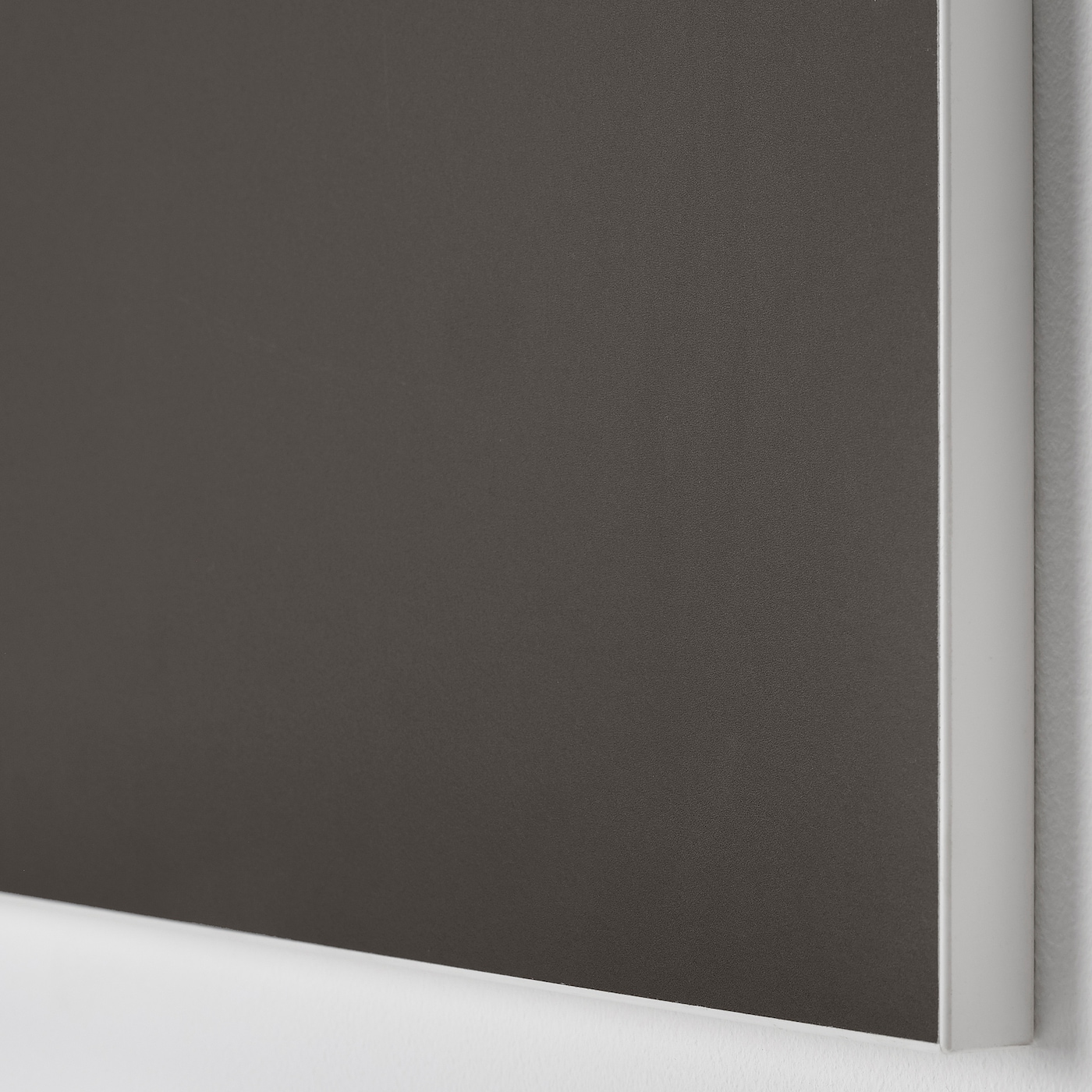 SKATVAL Pair of sliding doors, dark grey, 120x180 cm