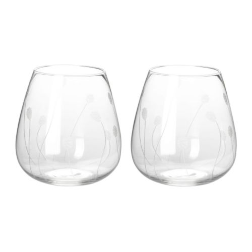 SKIR Glass IKEA The glass is mouth blown by a skilled craftsperson and has a handmade decor, making each glass unique.