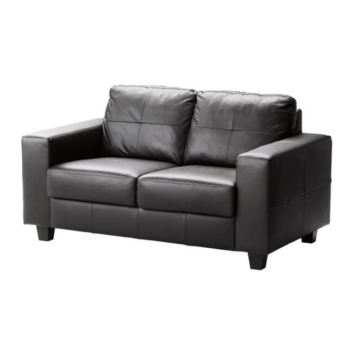 SKOGABY Two-seat sofa IKEA Seat surfaces and armrests in soft, hardwearing, easy care grain leather.