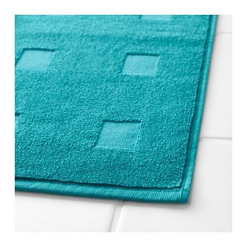 skoghall bath mat turquoise 50x80 cm ikea