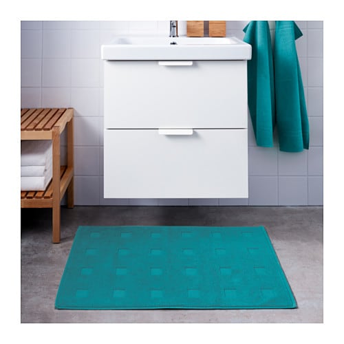 Skoghall bath mat turquoise 50x80 cm ikea - Ikea tappeto bagno rosso ...