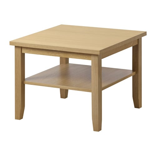 Skoghall coffee table oak 55x55 cm ikea for Ikea end tables salon