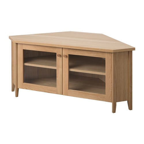 IKEA SKOGHALL corner TV bench 1 adjustable shelf; adjust spacing according to your own needs.