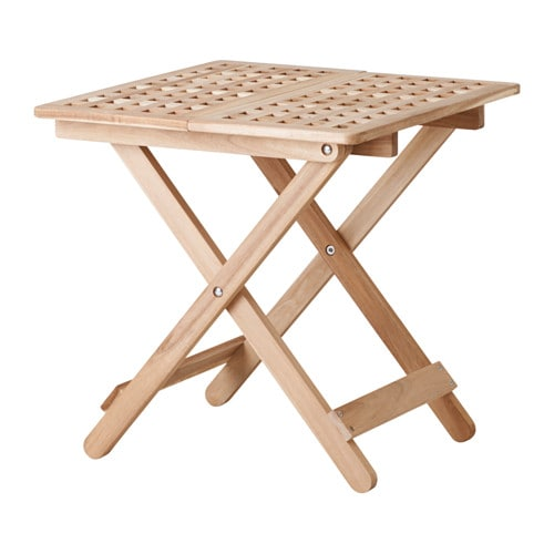 Folding side table ikea skoghall side table acacia 50x50 - Folding wooden table ikea ...