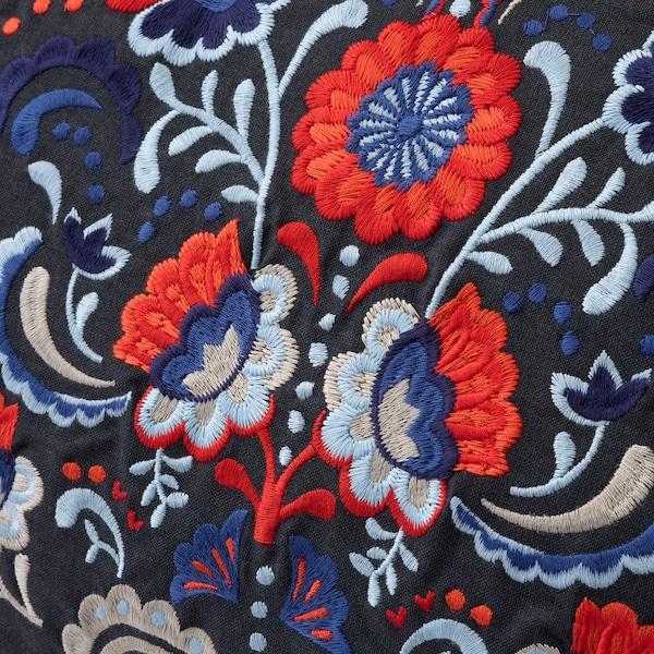 SKOGSKORN Cushion, dark grey/multicolour, 40x58 cm