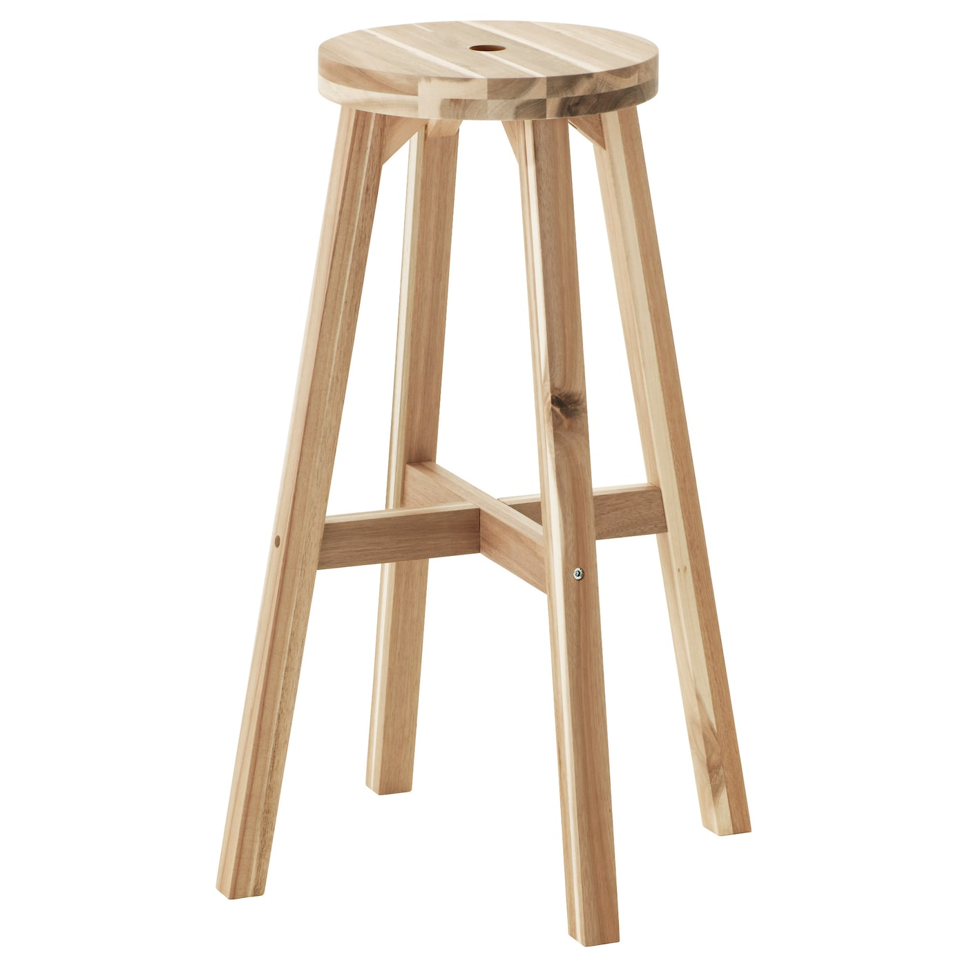 Bar Stools For A Bar Part - 24: IKEA SKOGSTA Bar Stool Solid Wood Is A Hardwearing Natural Material.