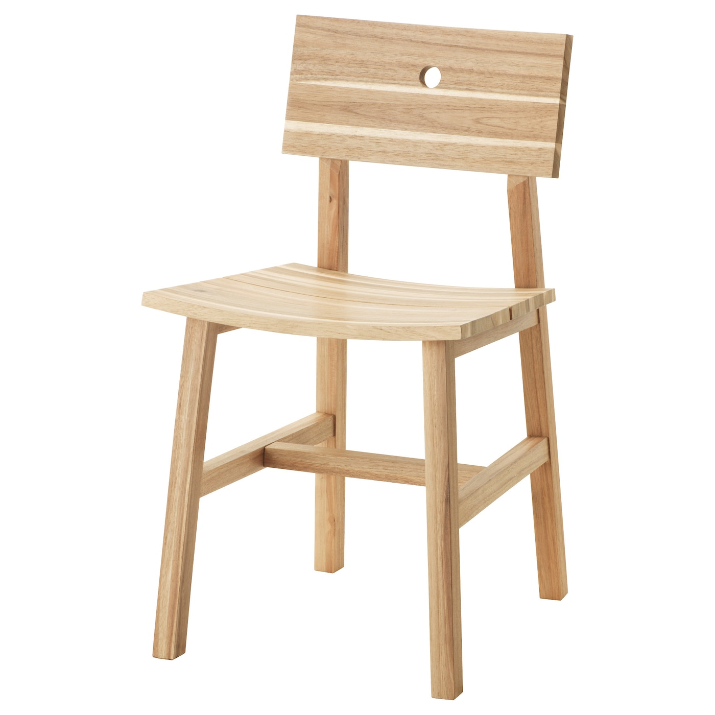 Skogsta chair acacia ikea for Design stuhl ikea