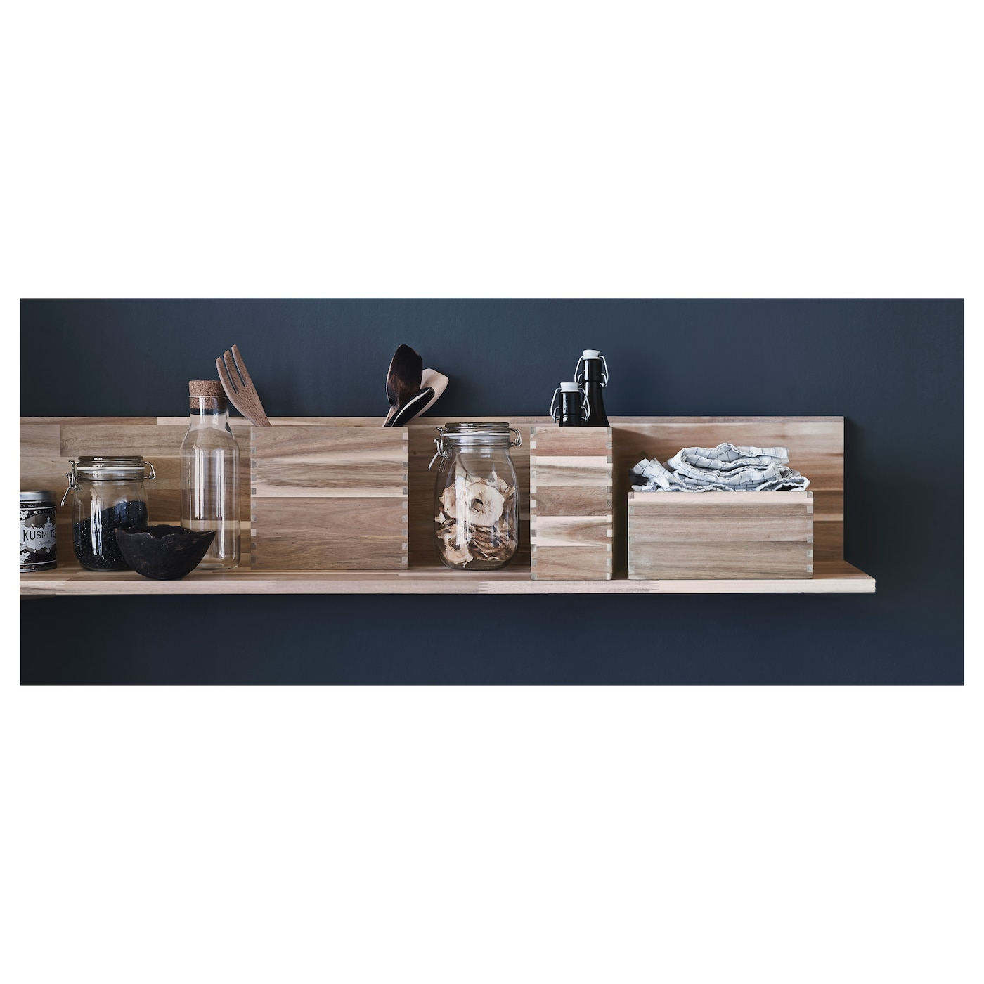 Skogsta wall shelf acacia 120x25 cm ikea ikea skogsta wall shelf solid wood is a durable natural material amipublicfo Gallery