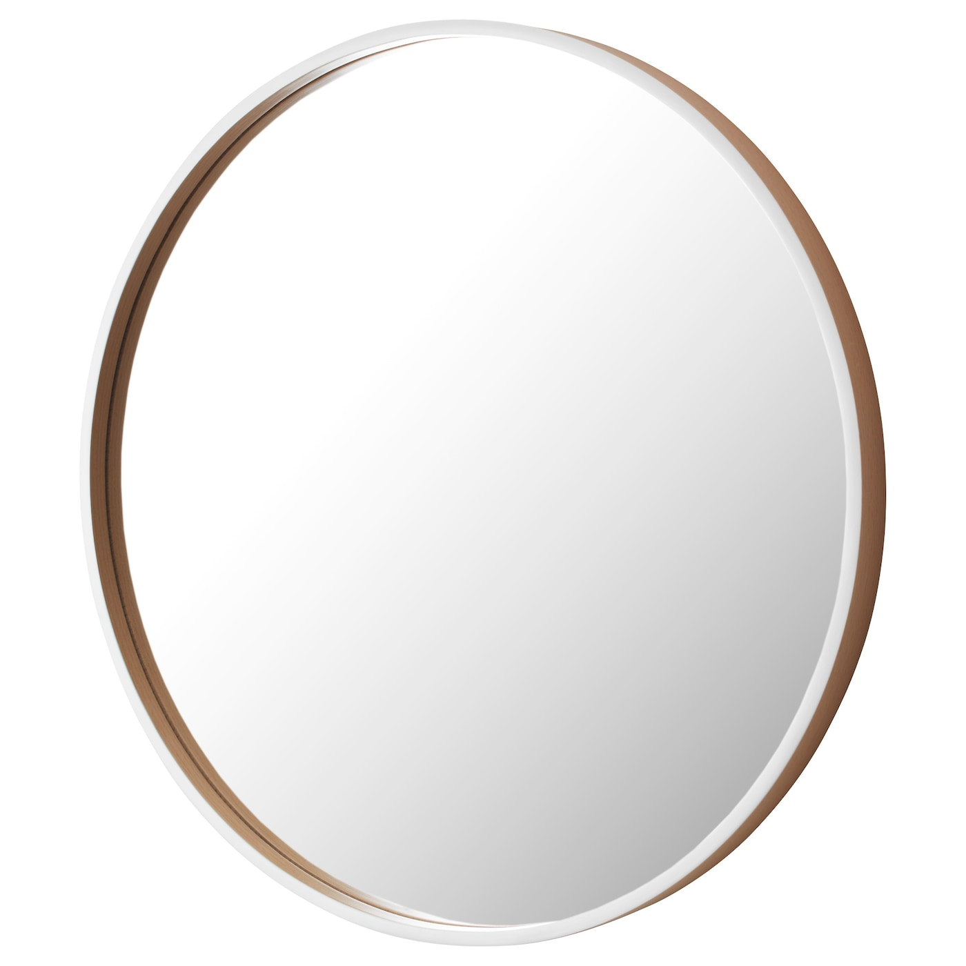 Skogsv g mirror white beech veneer 50 cm ikea for Where to find mirrors