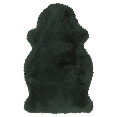 SKOLD Sheepskin, dyed, dark green, 90 cm