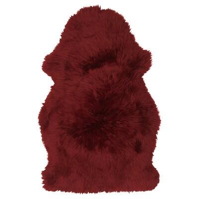 SKOLD Sheepskin, dyed, dark red, 90 cm