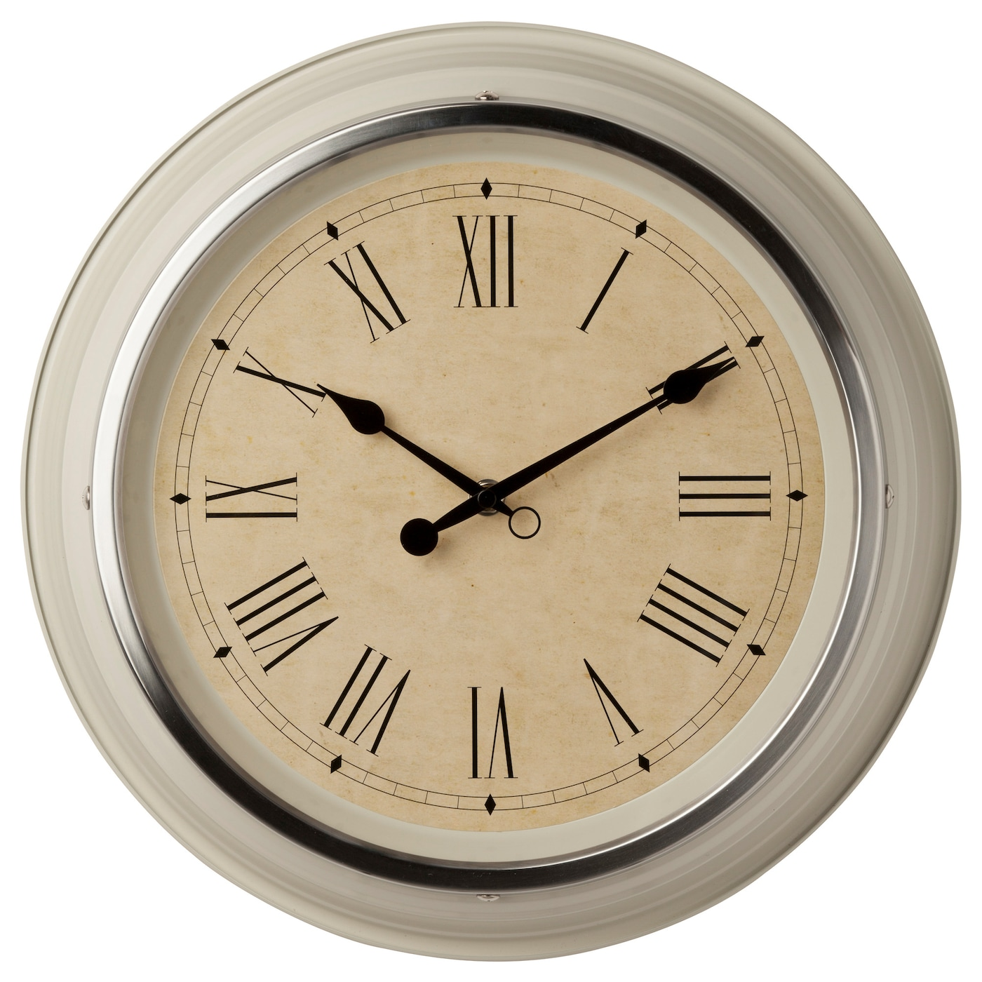 IKEA SKOVEL wall clock Highly accurate at keeping time as it is fitted with a quartz movement.