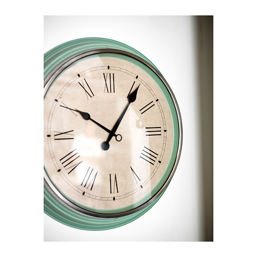 skovel wall clock green 59 cm ikea. Black Bedroom Furniture Sets. Home Design Ideas