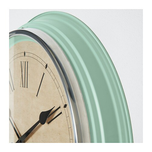 SKOVEL Wall clock Green 59 cm IKEA