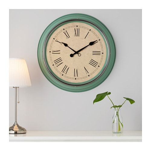 Skovel wall clock green 59 cm ikea for Ikea orologi da parete
