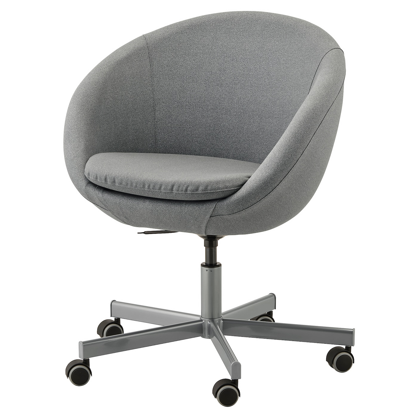 Skruvsta Flackarp Medium Grey Swivel Chair Ikea