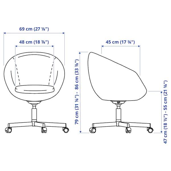 SKRUVSTA Swivel chair, Idhult black