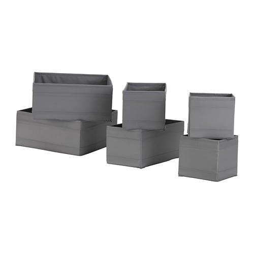 skubb box set of 6 dark grey ikea. Black Bedroom Furniture Sets. Home Design Ideas