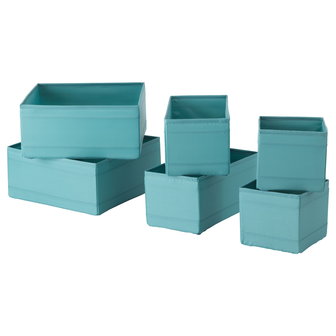 SKUBB Box set of 6 Light blue IKEA