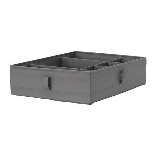 skubb box with compartments dark grey 44x34x11 cm ikea. Black Bedroom Furniture Sets. Home Design Ideas