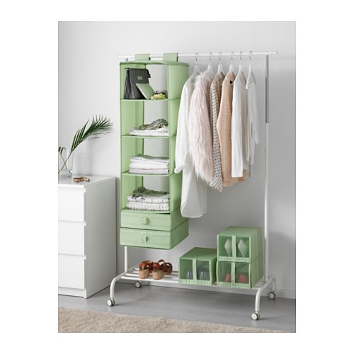 skubb box with compartments light green 44x34x11 cm ikea. Black Bedroom Furniture Sets. Home Design Ideas
