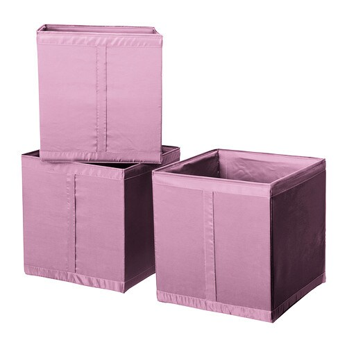 3 x ikea skubb storage boxes fits pax wardrobe pink for Rangement baignoire ikea