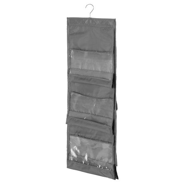SKUBB hanging handbag organiser dark grey 39 cm 93 cm 2 kg