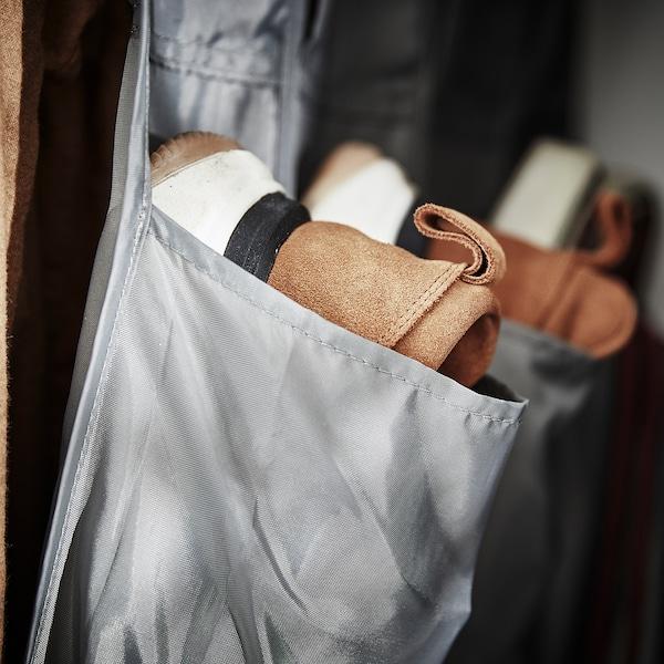 SKUBB hanging shoe organiser w 16 pockets dark grey
