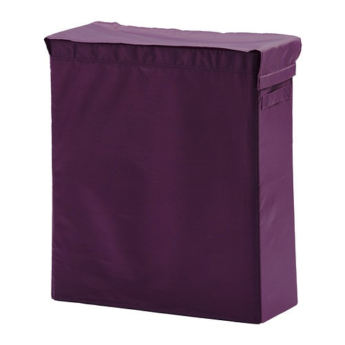 ikea laundry bag bin with stand lilac white black