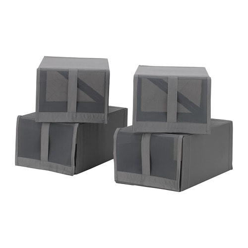 skubb shoe box dark grey 22x34x16 cm ikea. Black Bedroom Furniture Sets. Home Design Ideas