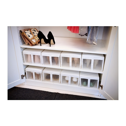 skubb shoe box white 22x34x16 cm ikea. Black Bedroom Furniture Sets. Home Design Ideas